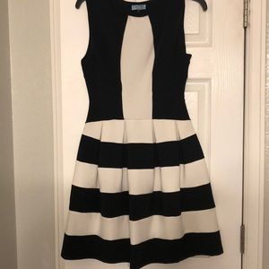 EUC Black and White Dress